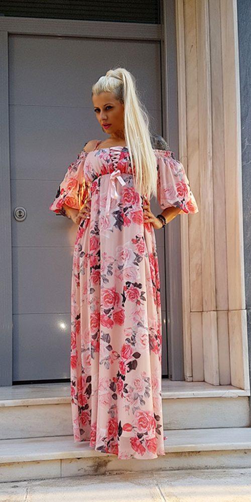 Ρομαντικό Maxi Φόρεμα