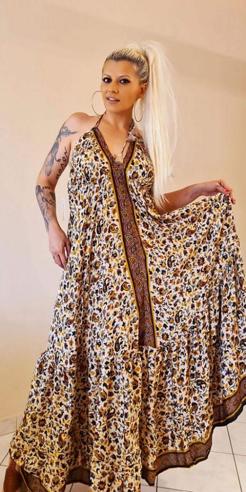 Έθνικ Maxi Φόρεμα καλοκαιρινό