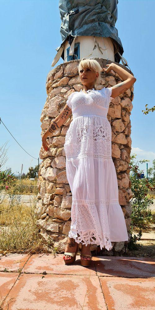 Μακρύ Φόρεμα Με Χαμόγελο