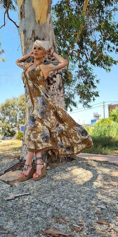 Boho Φόρεμα Μεταξωτό