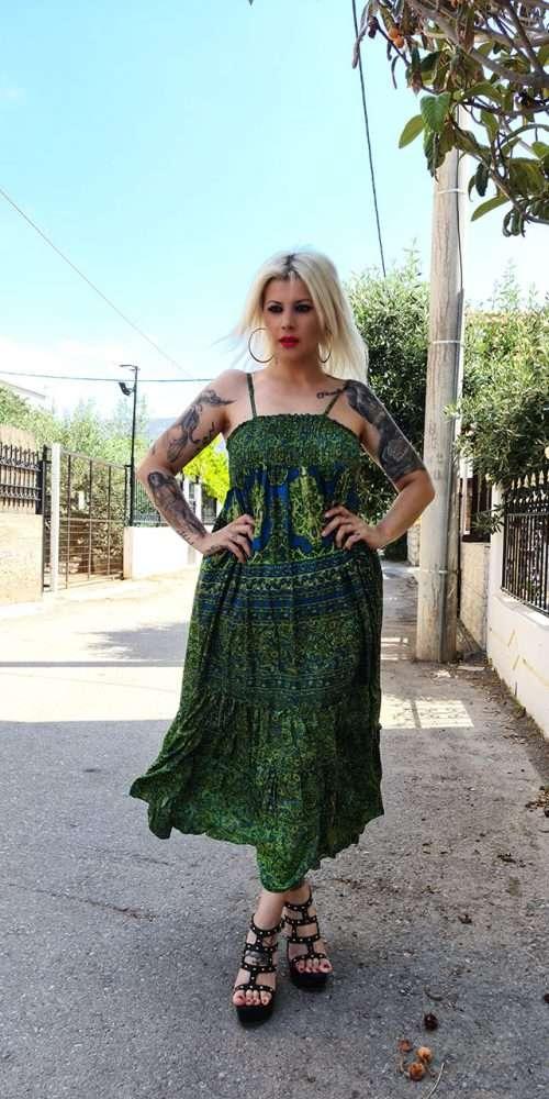 Boho Φόρεμα Πράσινο